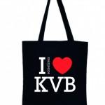Jonas Druck individuelle Veredelung einer Tasche aus Textil für KVB.