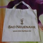 Jonas Druck individuelle Veredelung einer Tasche aus Textil für das Heilbad Bad Neuenahr.