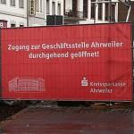 Jonas Druck großformatiges Banner als Außenwerbung für die Kreissparkasse Ahrweiler.