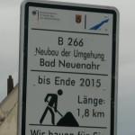 Jonas Druck Schild für den Straßenverkehr.