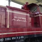 Jonas Druck Fahrzeugbeschriftung für eine Lokomotive der Stadtwerke Andernach.