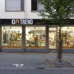 Jonas Druck Objektbeschriftung eines Schaufensters als Außenwerbung für Go Trend.