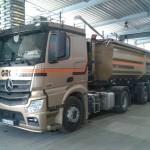 Jonas Druck Fahrzeugbeschriftung eines Lastwagens für Gros Transporte.