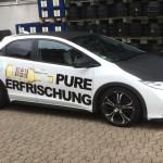 Jonas Druck Fahrzeugbeschriftung für Gaffels Fassbrause.