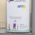 Jonas Druck Leuchtreklame als Außenwerbung für AWO.