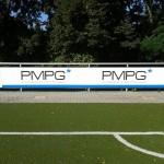Jonas Druck Leuchtreklame als Außenwerbung für PMPG.